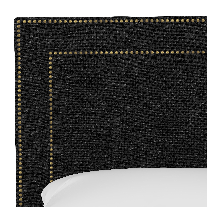 Williams Bed, California King, Caviar, Brass Nailheads