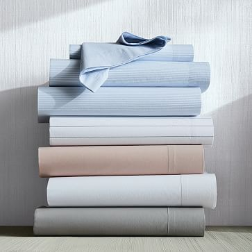 Organic Washed Cotton Sheet Set, Queen, Pink Champagne