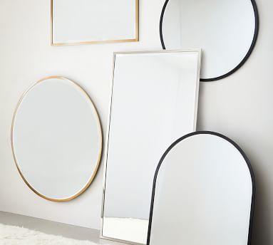 "Layne Rectangular Wall Mirror, Brass - 30"" x 42"""