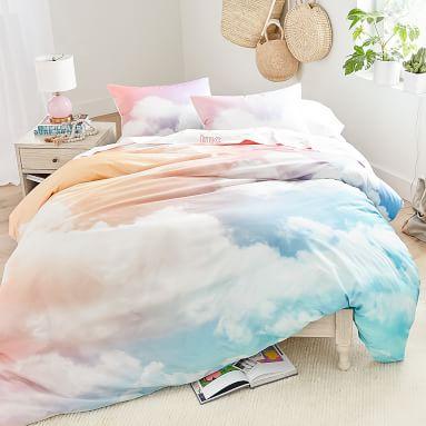 Rainbow Sky Organic Duvet Cover, Twin/Twin XL, Multi