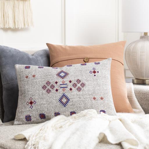 "Sierra Lumbar Pillow, 20"" x 13"", Taupe"