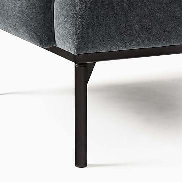 Penn Chair, Modern Chenille, Slate Black