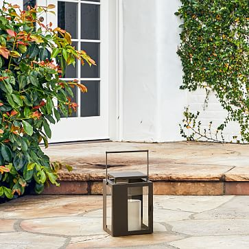 Portside Metal Lantern, Set of 3, Small Medium Large