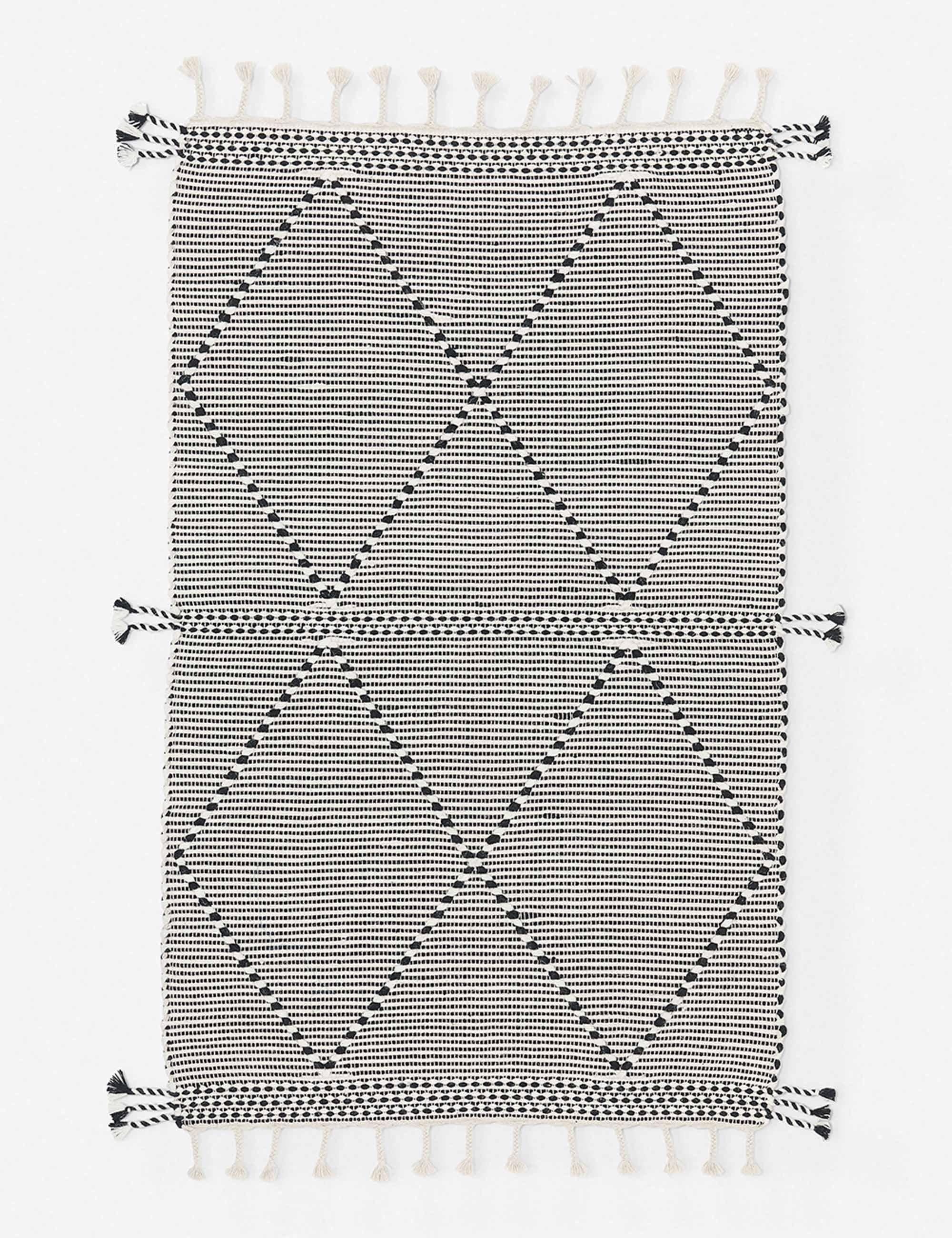 Taza Rug, Black and White 3x5