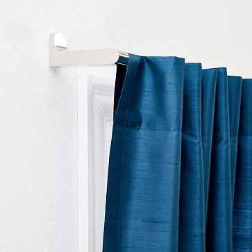 """Dupioni Silk Curtain, 48""""x84"""", Regal Blue, Unlined"""