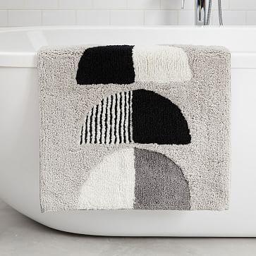 "Organic Half Moons Bath Mat, Multi, 20""x34"""