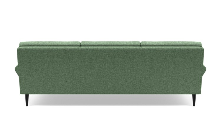 Maxwell Sofa with Green Forest Fabric and Unfinished GunMetal legs