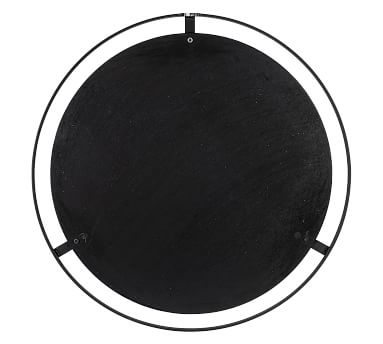 """Aspen Black And Gold Round Wall Mirror, 36"""""""