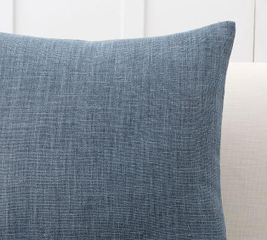 """Belgian Linen Pillow Cover/ Midnight / 20"""" x 20"""""""