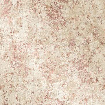 Peel & Stick Distressed Gold Leaf Wall Paper, Rose