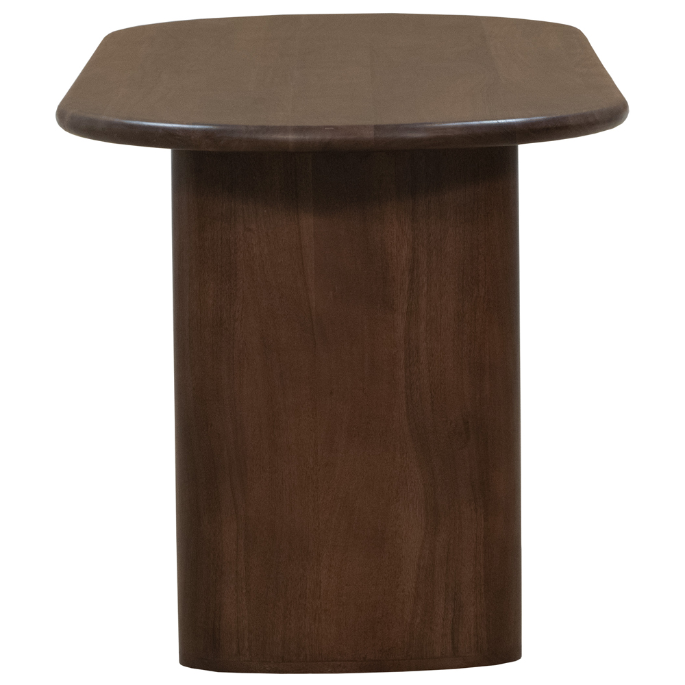 Olivia Modern Classic Dark Brown Acacia Oval Dining Table - 72 inch