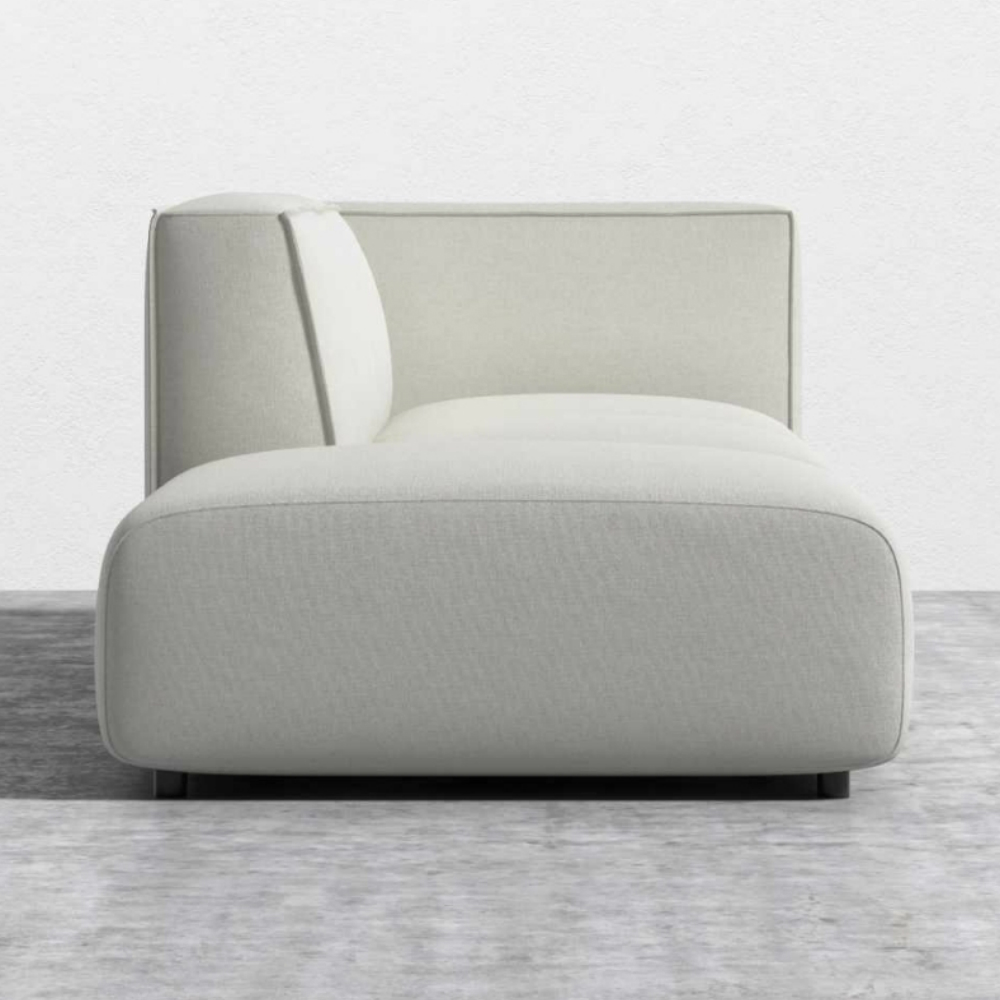 Rove Concepts Arya Modern Alesund Ivory Upholstered Open End Modular Sofa - Right Arm Facing