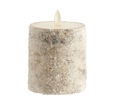 Premium Flicker Flameless Wax Candle, Sugared Birch, 4x4.5""