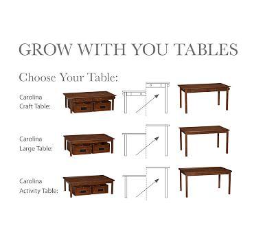 Carolina Craft Play Table, White UPS