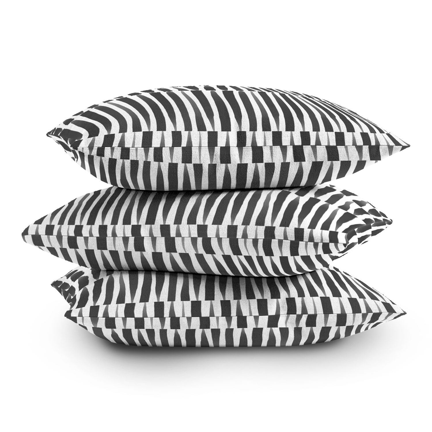 """Bw Abstract Theme by Emanuela Carratoni - Outdoor Throw Pillow 18"""" x 18"""""""