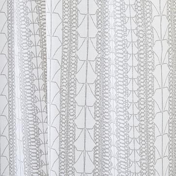 "Echo Print Curtain, Set of 2, Platinum, 48""x96"""