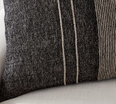 """Caylee Striped Pillow Cover, 24 x 24"""", Gray Multi"""