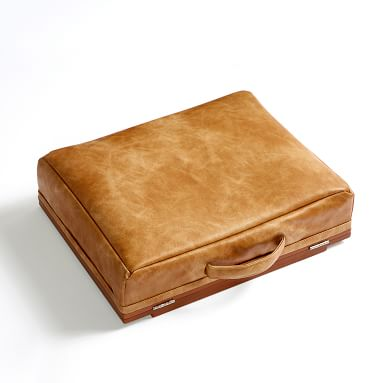 Vegan Leather Adjustable Super Storage Lapdesk, Caramel
