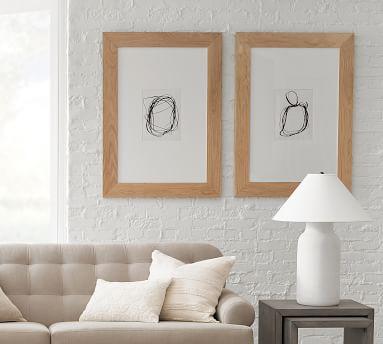 "Malia Oversized Wood Picture Frame, Oak, 11"" x 14"" (31"" x 43"" Without Mat)"