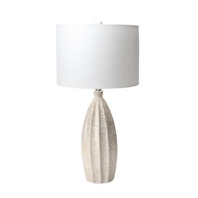nuLOOM 27 in. Beige Hilo Ceramic Indoor Table Lamp