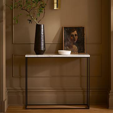 Streamline Console, Marble, Light Bronze