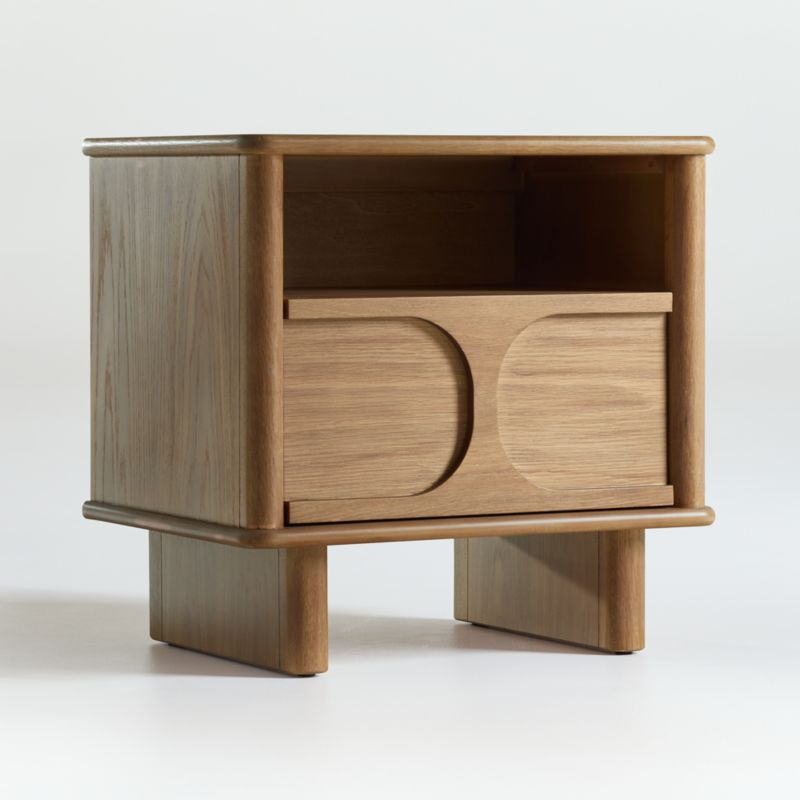 Wes Wood Nightstand with Drawer