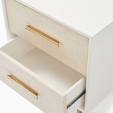 Margot Storage Nightstand Whitewashed, Light Bronze, Set of 2