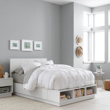 Bowen Storage Bed, Full, Simply White