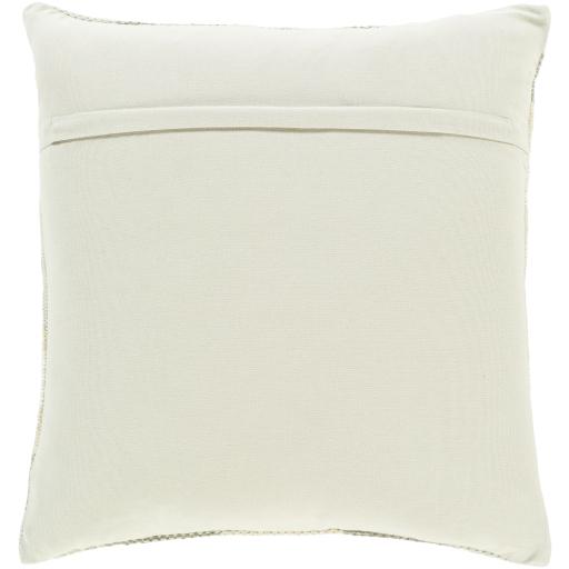 """Jabari Pillow Cover, 18"""" x 18"""", Ivory"""