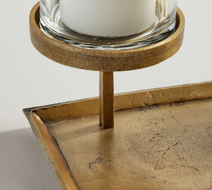 Draper Brass Pillar Candle Centerpiece, One Size