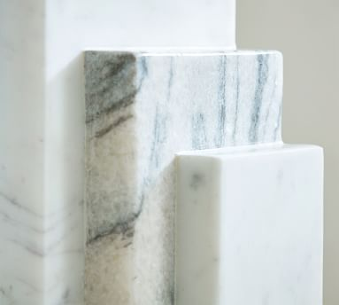 Marble Step Book Ends