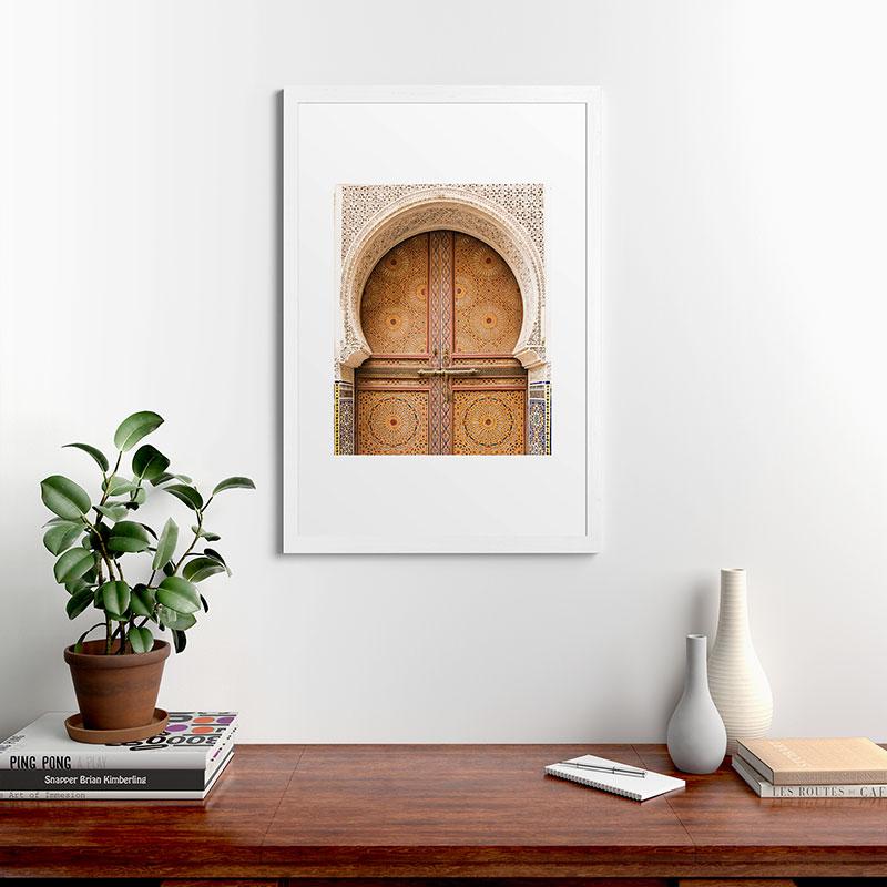 "Ornate by TRVLR Designs, Classic Framed Art Print, White, 24"" x 36"""