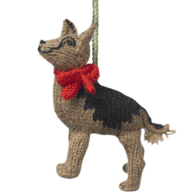 Arcadia Home German Shepherd Holiday Shaped Ornament Set Of 2 Perigold