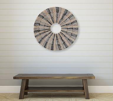 "Nami Seagrass Round Wall Decor, 28"""