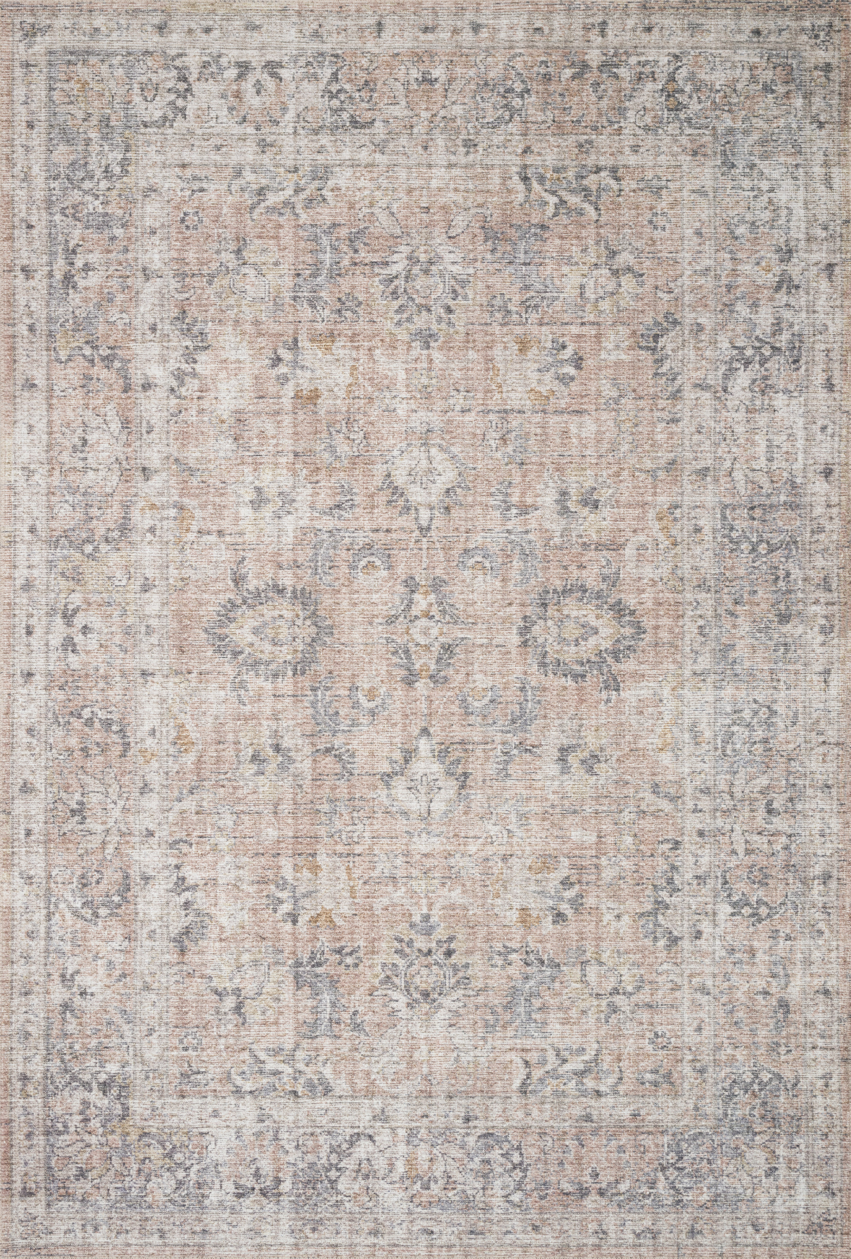 """Roze Rug, Blush and Grey 5'0"""" x 7'6"""""""