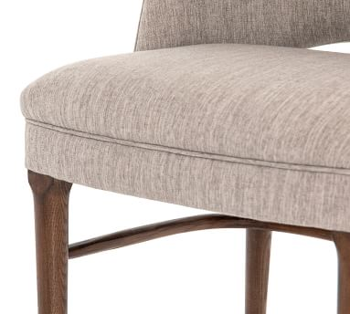 Manteli Upholstered Dining Chair, Savile Flannel & Almond