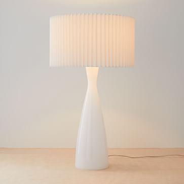 Delilah Table Lamp, Large, White, Cased