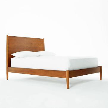 Mid-Century Bed Frame Queen, Acorn