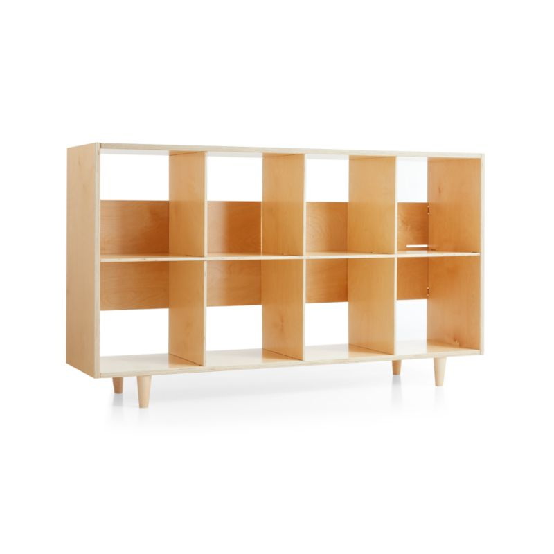 Sprout Natural 8 Cubby Birch Bookcase