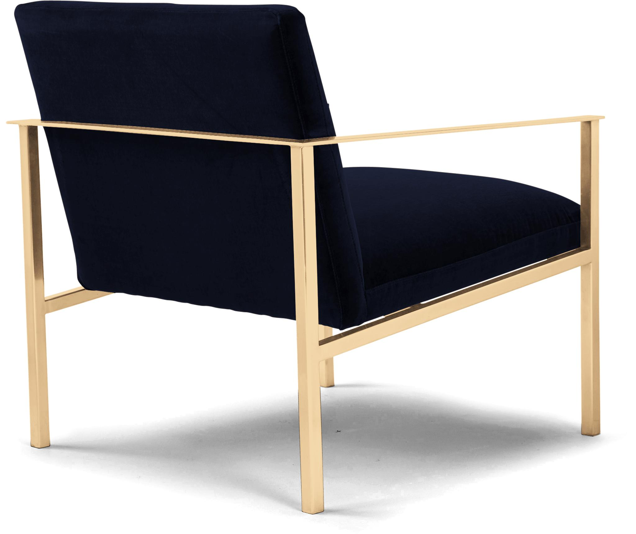Blue Orla Mid Century Modern Accent Chair - Bentley Indigo