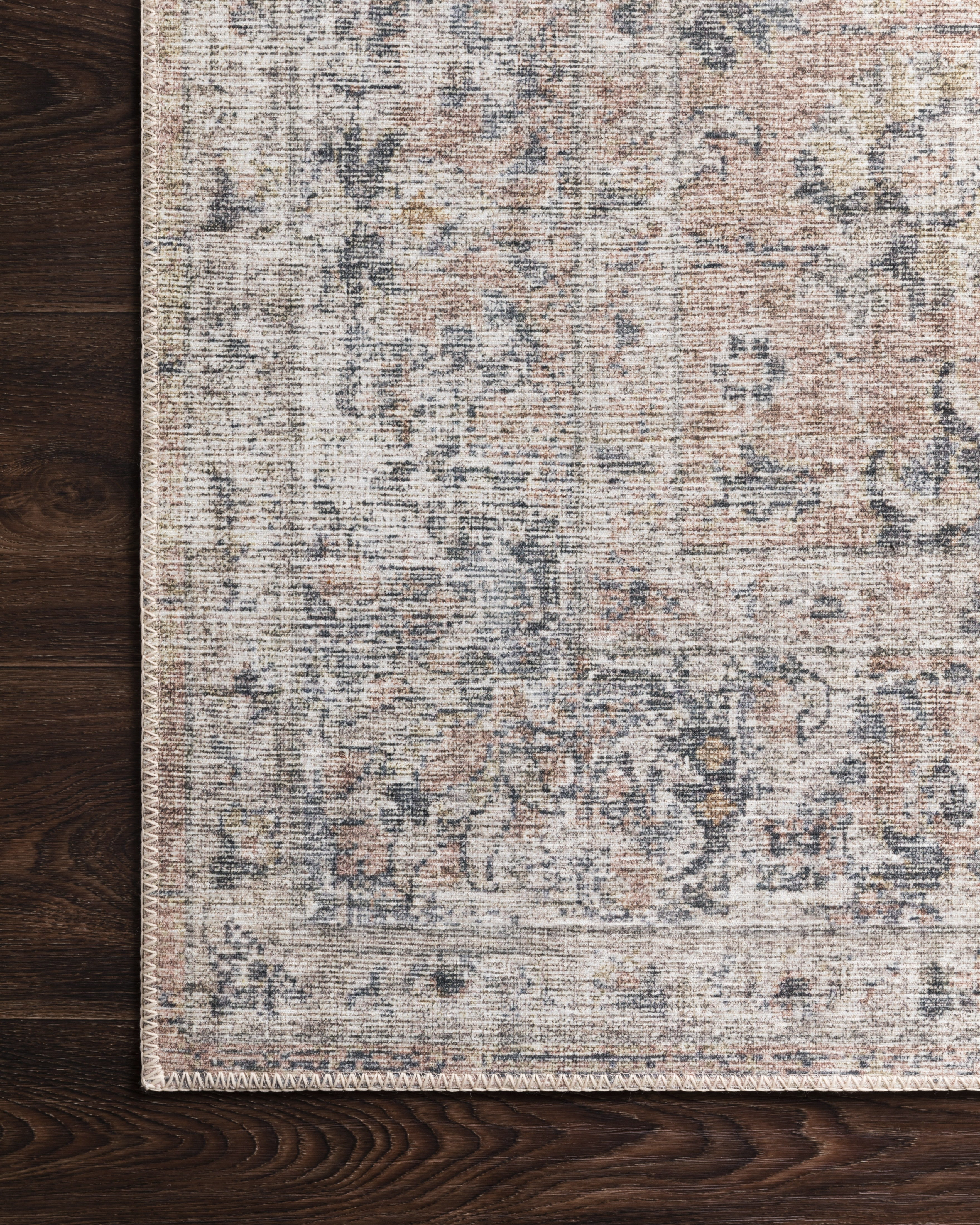 "Roze Rug, Blush and Grey 2'3"" x 3'9"""