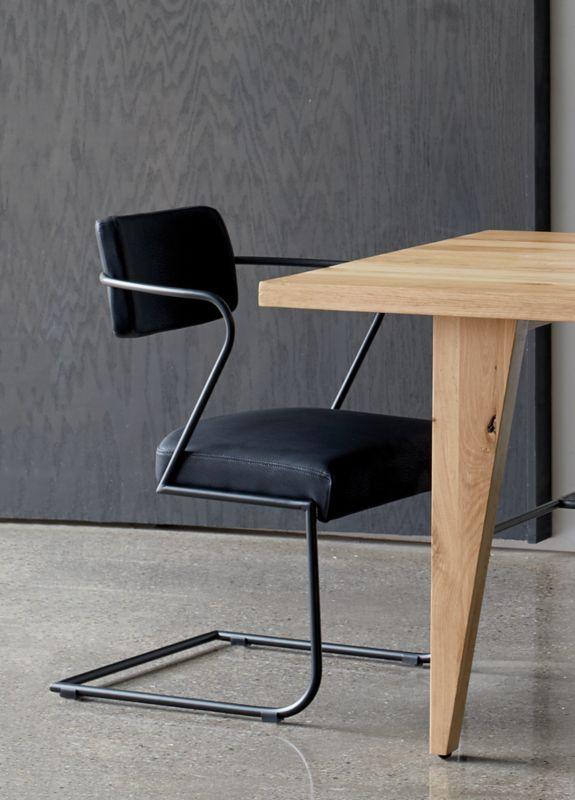 Gaff Metal Frame Chair Black