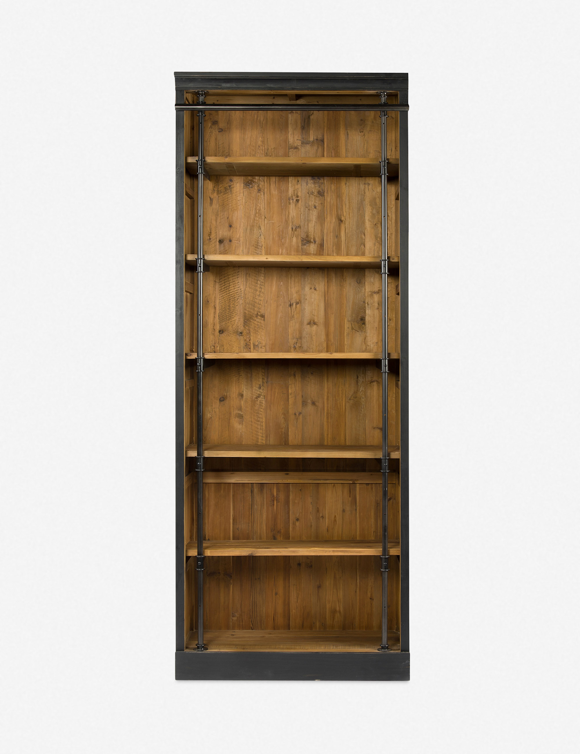 Mallory Bookcase with Ladder, Black