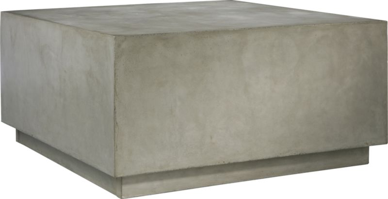 Matter Grey Cement Square Coffee Table