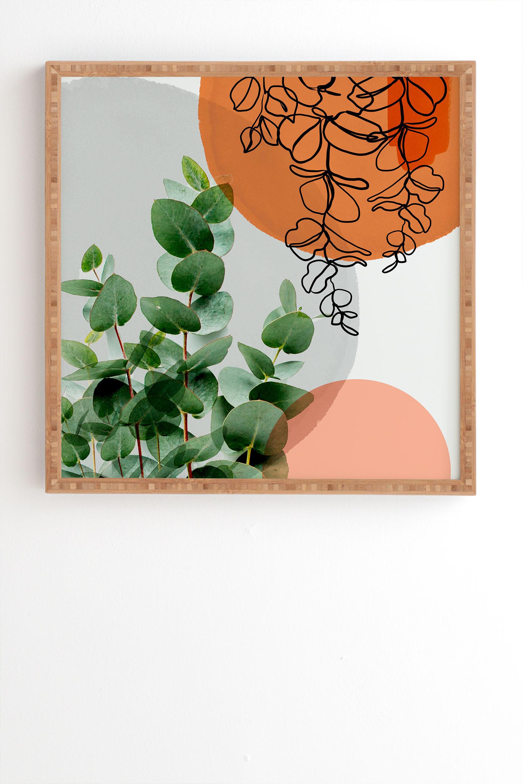 "Simpatico V4 by Gale Switzer - Framed Wall Art Bamboo 8"" x 9.5"""