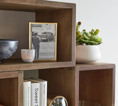 """Reed Open Floating Shelf, Antique Umber, 24""""W x 12""""D x 12""""H"""