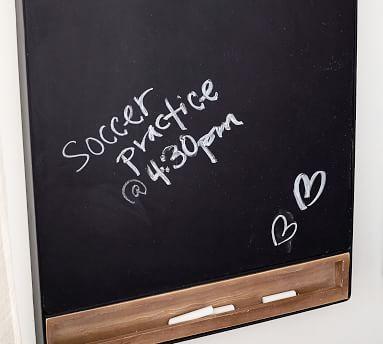 Trenton Chalkboard, Rustic Wood