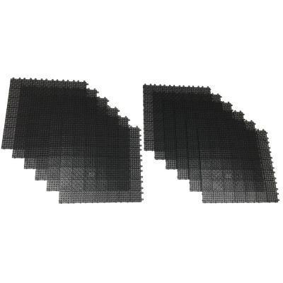 RSI Black Regenerated 22 in. x 22 in. Polypropylene Interlocking Floor Mat System (Set of 12 Tiles)