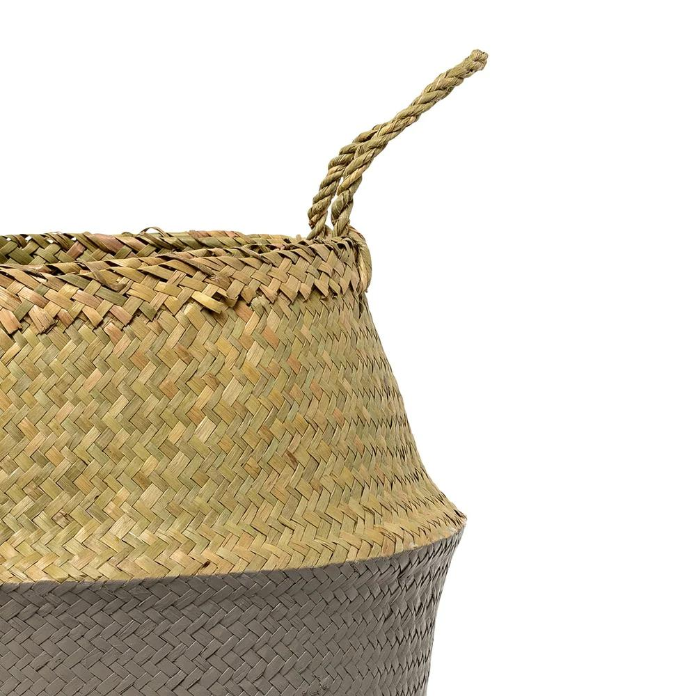 Seagrass Folding Basket with Handles