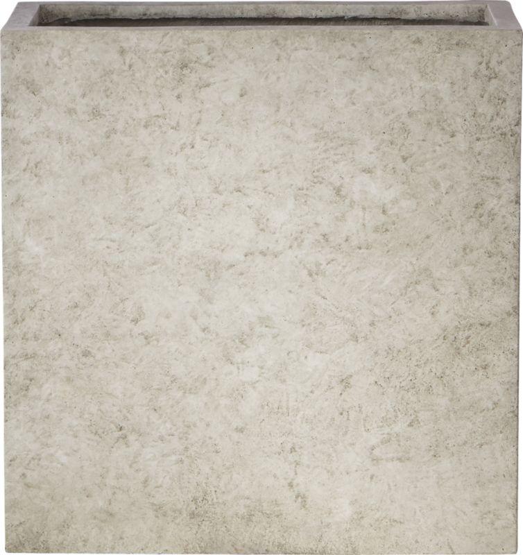Ash Rectangular Concrete Planter Large
